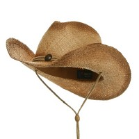 Western - Raffia Straw Hat with Stains | Free Shipping | e4Hats.com