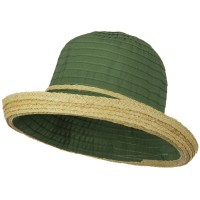 Bucket - Tape Braid Raffia Straw Hat
