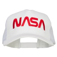 Embroidered Cap - NASA Letter Big Size Trucker Cap