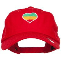 Embroidered Cap - Rasta Heart Embroidered Cap
