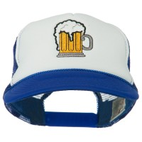Embroidered Cap - Beer Mug Embroidered Foam Cap