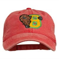 Embroidered Cap - Bison Embroidered Washed Cap