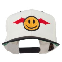 Embroidered Cap - Bat Smiley Face Embroidery Cap