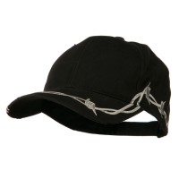Ball Cap - 6 Panel Barbed Wire Design Cap