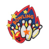 Patch - Bowling Embroidered Patches