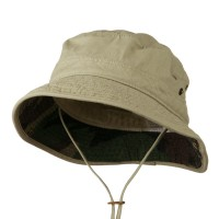 Outdoor - Big Size Camo Washed Bucket Hat | Free Shipping | e4Hats.com