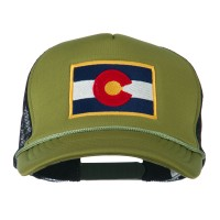 Embroidered Cap - Colorado Flag Foam Mesh Cap