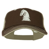 Embroidered Cap - Chess Knight Big Size Mesh Cap
