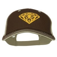 Embroidered Cap - Diamond Big Size Washed Cap