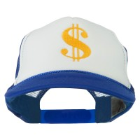 Embroidered Cap - Dollar Sign Embroidery Foam Cap