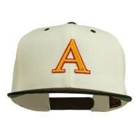 Embroidered Cap - 3D Letter A Embroidery Snapback Cap
