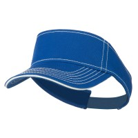 Visor - Royal Contrast Stitch Visor