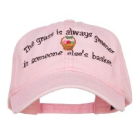 Embroidered Cap - Grass is Greener Easter Cap