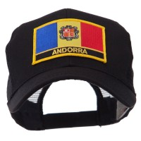 Embroidered Cap - Europe Flag Letter Patch Mesh Cap