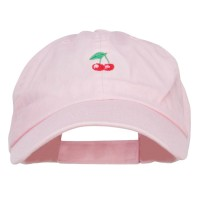 Embroidered Cap - Mini Cherry Embroidered Cap