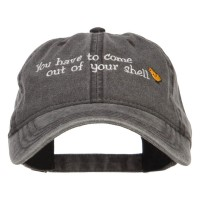 Embroidered Cap - Come out of Shell Easter Cap