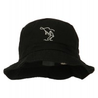 Bucket - Fly Fishing Outline Bucket Hat