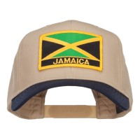 Embroidered Cap - Jamaica Flag Two Tone Patched Cap