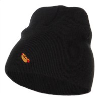 Beanie - Mini Hot Dog Embroidered Beanie