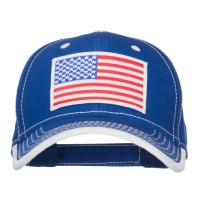 Embroidered Cap - American Flag Patched Cotton Cap