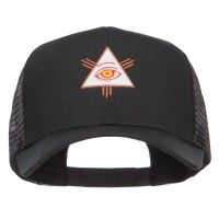 Embroidered Cap - All Seeing Eye Mesh Cap