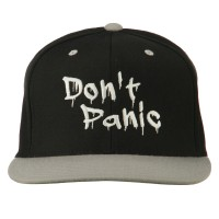 Embroidered Cap - Don't Panic Embroidered Snapback