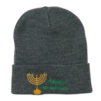 Beanie - Hanukkah Candles Embroidered Beanie