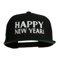 Embroidered Cap - New Year Embroidered Flat Cap