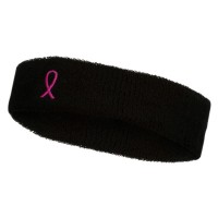Band - Ribbon Breast Cancer Embroidered Band