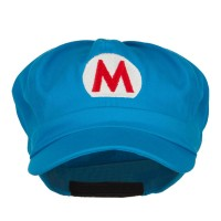 Newsboy - Ice Mario Luigi Embroidery Newsboy | Free Shipping | e4Hats.com