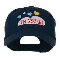 Embroidered Cap - Yours Heart Embroidered Cap