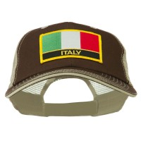 Embroidered Cap - Italy Flag Patched Mesh Cap