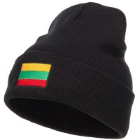 Beanie - Lithuania Flag Embroidered Beanie