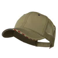 Ball Cap - 6 Panel Mesh Flag Mesh Cap