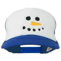 Embroidered Cap - Snowman Face Embroidered Cap