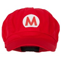 Heat Transferred Cap - Mario Heat Transferred Newsboy Cap | Free Shipping | e4Hats.com