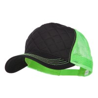 Ball Cap - Quilted Neon Mesh Big Size Cap