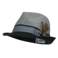 Fedora - Two Tone Fedora with Feather