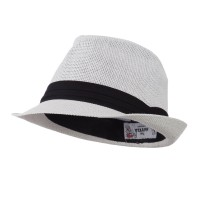 Fedora - Pleated Hat B, Straw Fedora | Free Shipping | e4Hats.com