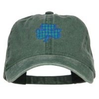 Embroidered Cap - Plaid Shamrock Embroidered Cap