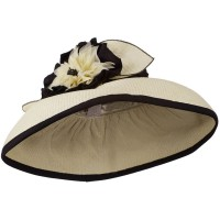 Dressy - Paper Straw Hat Big Flower