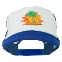 Embroidered Cap - Palm Sunset Embroidered Cap