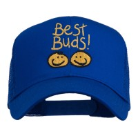 Embroidered Cap - Best Buds Smile Faces Embroidery Cap