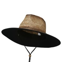 Outdoor - Stained Straw Braid Lifeguard Hat