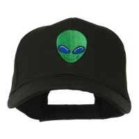 Embroidered Cap - Smiley Alien Embroidery Cap