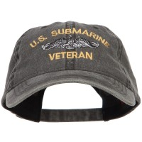 Embroidered Cap - Submarine Veteran Washed Cap | Free Shipping | e4Hats.com