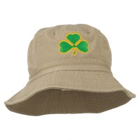 Bucket - Clover Embroidered Bucket Hat
