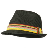 Fedora - Rainbow Braid Fedora
