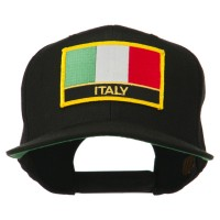 Embroidered Cap - Italy Europe Flag Flat Bill Cap