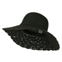 Dressy - Two Tone Crocheted Sun Brim Hat